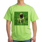 Cute Pug Green T-Shirt