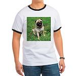 Cute Pug Ringer T