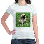 Cute Pug Jr. Ringer T-Shirt