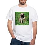 Cute Pug White T-Shirt