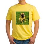 Cute Pug Yellow T-Shirt