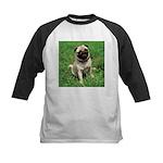 Cute Pug Kids Baseball Jersey