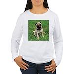 Cute Pug Women's Long Sleeve T-Shirt