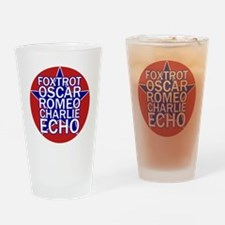 FORCE - Red White & Blue Star Drinking Glass