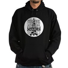 FORCE - Black & White Jet Hoodie