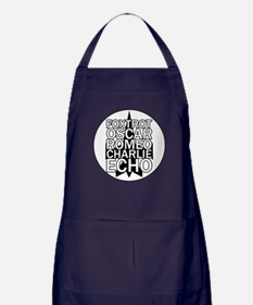 FORCE - Black & White Jet Apron (dark)