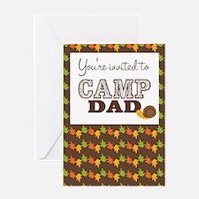 Camp Dad Folded Invitations Greeting Card
