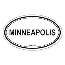 Minneapolis (Minnesota) Oval Decal