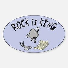 Rock is King Sticker (Oval)