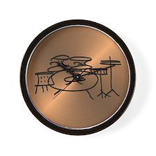 Unique Drummers Wall Clock