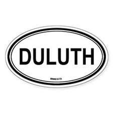 Duluth (Minnesota) Oval Bumper Stickers