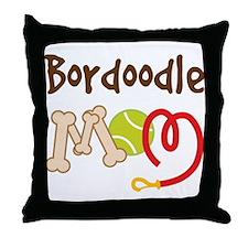 Bordoodle Dog Mom Throw Pillow