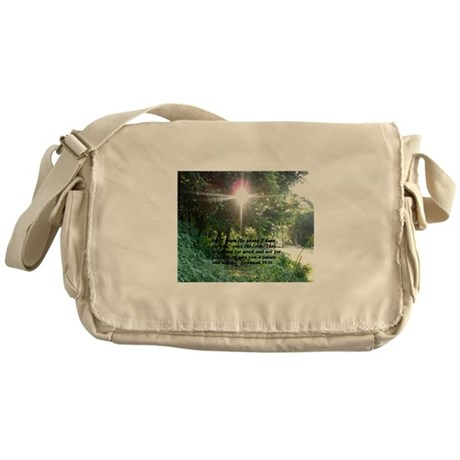 Sunbeam of Hope/Scripture Messenger Bag
