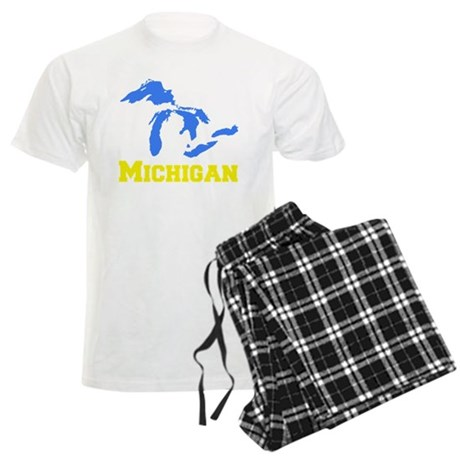 A Maize and Blue Men's Light Pajamas