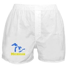 A Maize and Blue Boxer Shorts