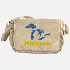 A Maize and Blue Messenger Bag