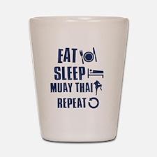 Eat Sleep Muay Thai Shot Glass