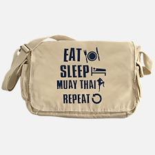 Eat Sleep Muay Thai Messenger Bag