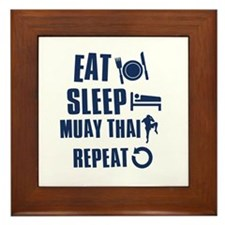 Eat Sleep Muay Thai Framed Tile