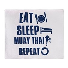 Eat Sleep Muay Thai Throw Blanket