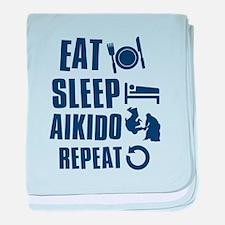 Eat Sleep Aikido baby blanket