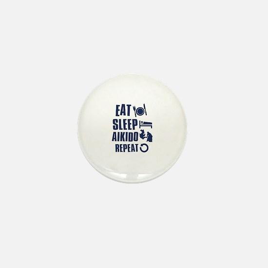 Eat Sleep Aikido Mini Button