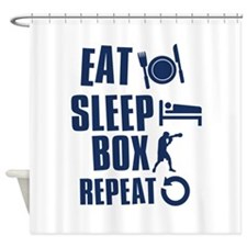Eat Sleep Box Shower Curtain