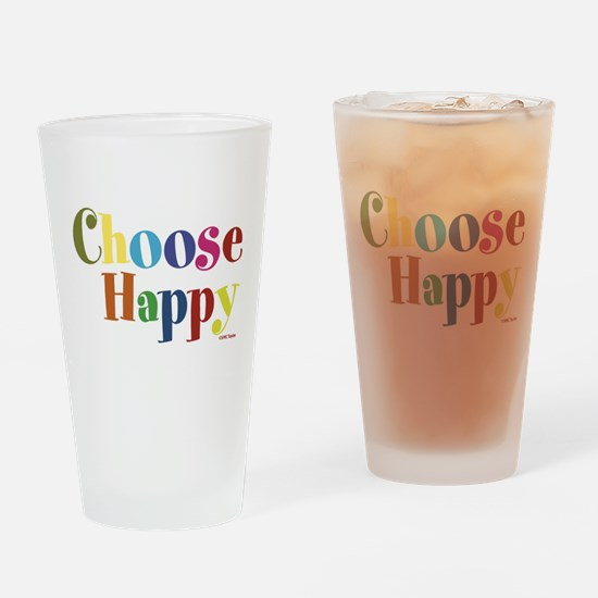 Choose Happy Drinking Glass