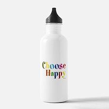 Choose Happy Water Bottle