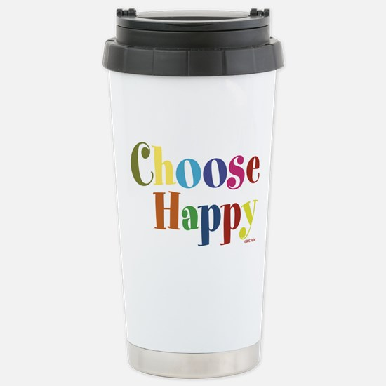 Choose Happy Stainless Steel Travel Mug
