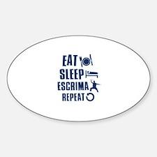 Eat Sleep Escrima Decal
