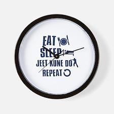 Eat Sleep Jeet Kune Do Wall Clock