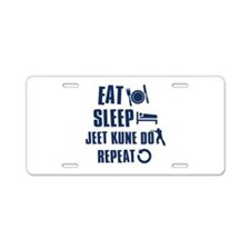 Eat Sleep Jeet Kune Do Aluminum License Plate