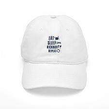 Eat Sleep Kickbox Baseball Cap