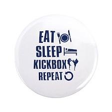 """Eat Sleep Kickbox 3.5"""" Button"""