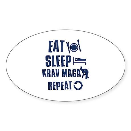 Eat Sleep Krav Maga Sticker (Oval 10 pk)