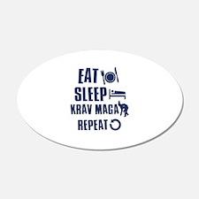 Eat Sleep Krav Maga 22x14 Oval Wall Peel