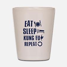 Eat Sleep Kung Fu Shot Glass