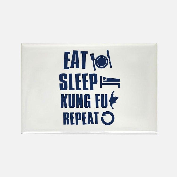 Eat Sleep Kung Fu Rectangle Magnet