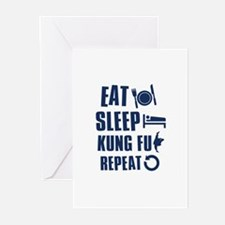 Eat Sleep Kung Fu Greeting Cards (Pk of 10)