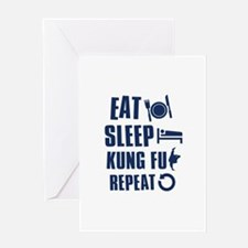 Eat Sleep Kung Fu Greeting Card