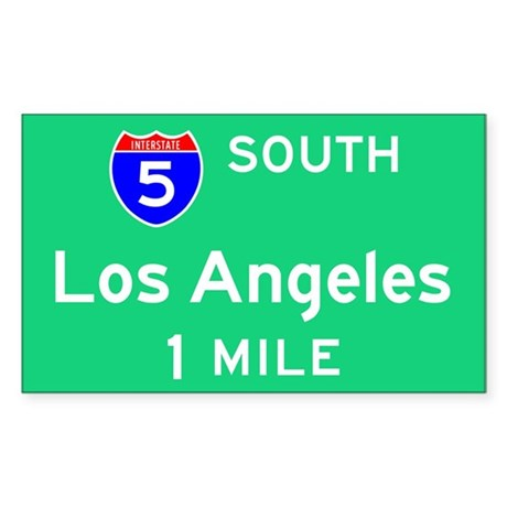 Los Angeles Exit Sign Rectangle Sticker