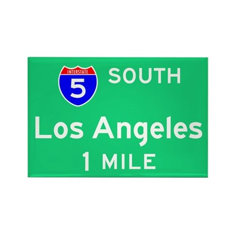 Los Angeles Exit Sign Rectangle Magnet
