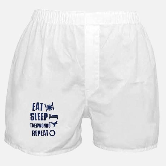 Eat Sleep Taekwondo Boxer Shorts