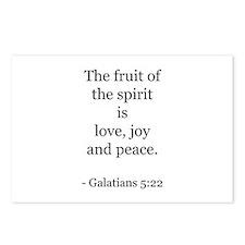 Galatians 5:22 Postcards (Package of 8)