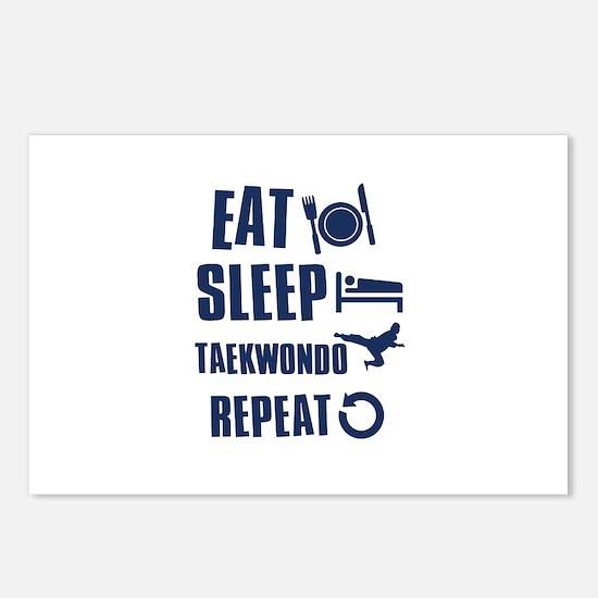 Eat Sleep Taekwondo Postcards (Package of 8)
