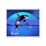 Orca Fleece Blankets
