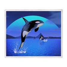 Orca Throw Blanket