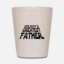 Galaxy's Greatest Father Shot Glass
