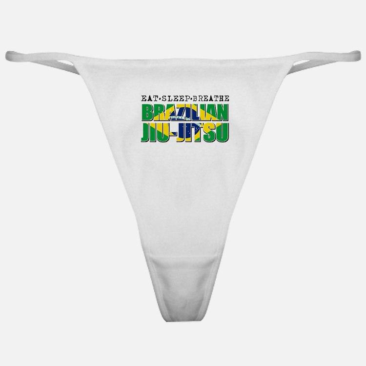 Eat Sleep Brazilian Jiu Jitsu Classic Thong